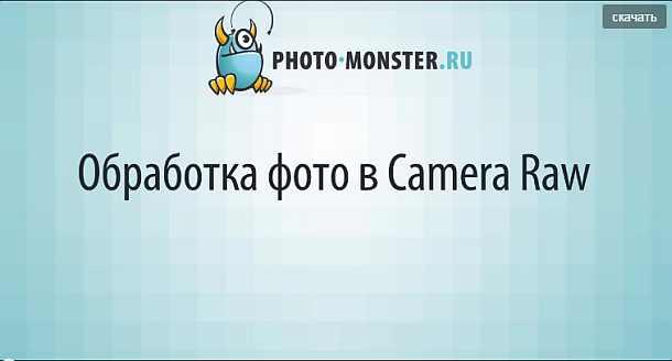 Обработка фото в Camera Raw