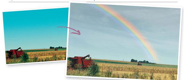 Рисуем на фотографии радугу