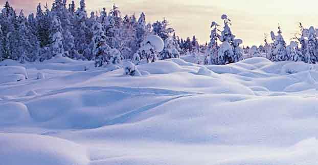 Съёмка зимнего пейзажа