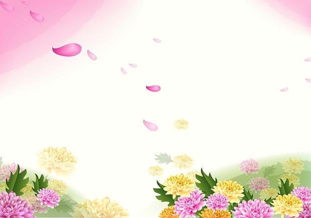 Романтический цветочный многослойный фон