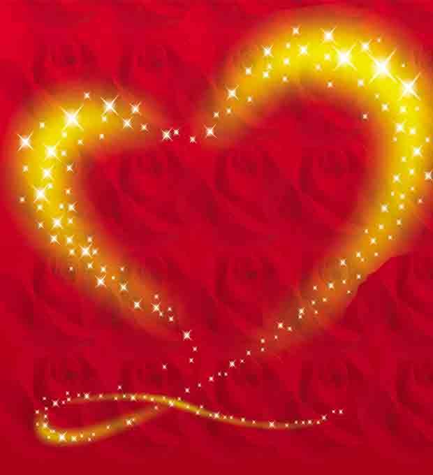 Многослойный фон Сердце
