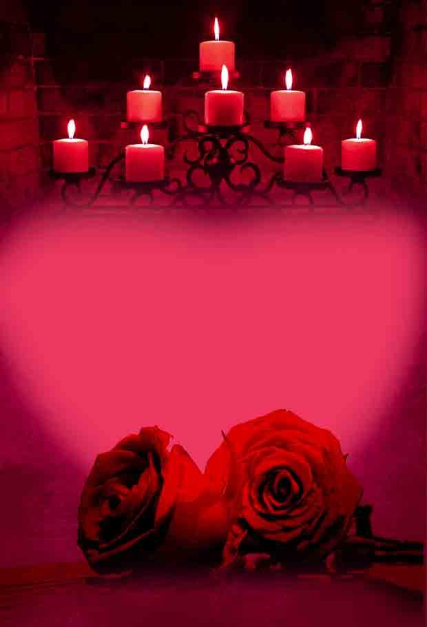Многослойный романтический фон с розами