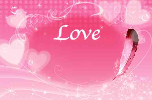 Розовый многослойный романтический фон валентинка