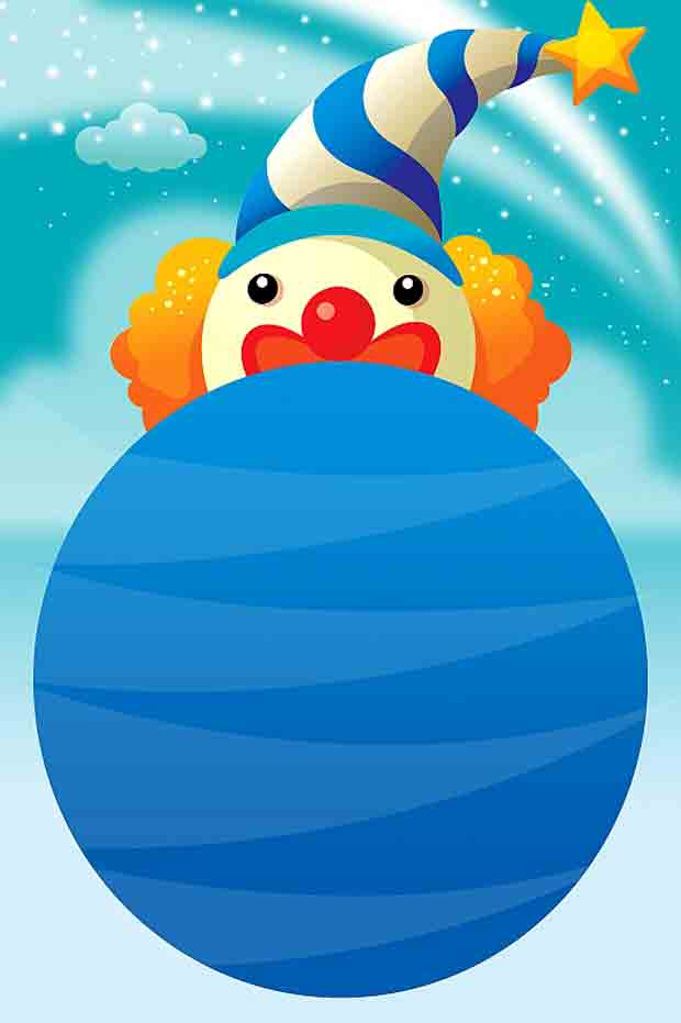 Детский многослойный исходник Клоун