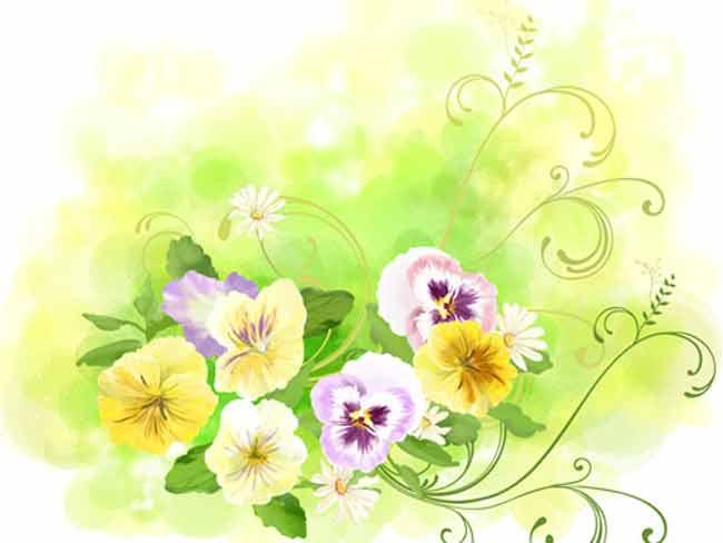 Многослойный исходник с цветами
