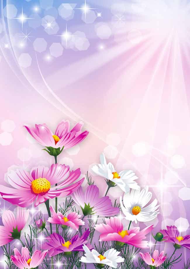 Многослойный цветочный исходник для фотошопа