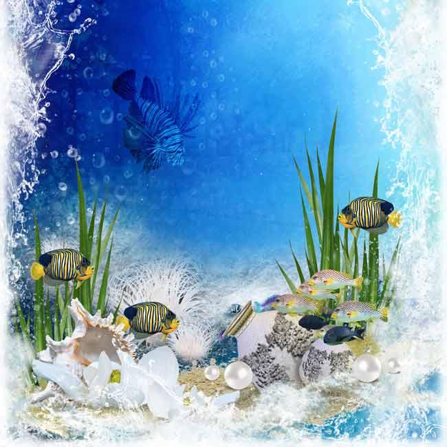 подводный многослойный исходник