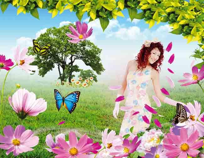 Исходник девушка с цветами