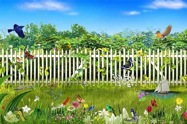 Многослойный исходник летний забор