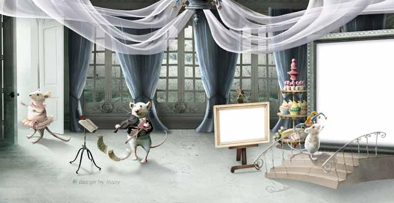 Детская фотокнига мышами