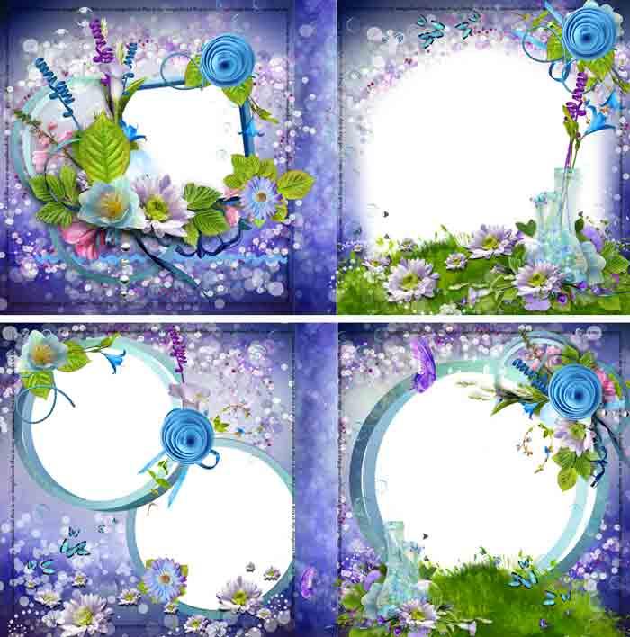 Сиреневая цветочная фотокнига