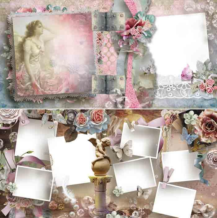 Романтическая цветочная фотокнига