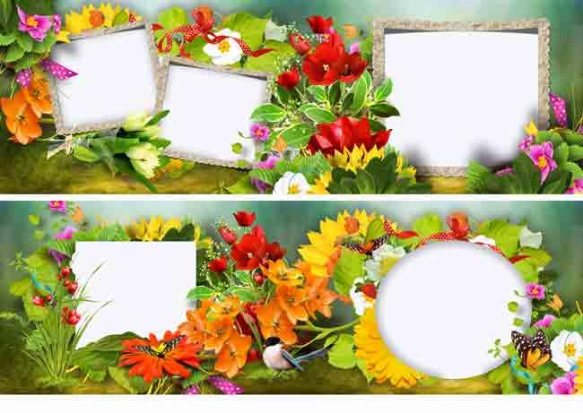 Шаблоны для цветочной фотокниги