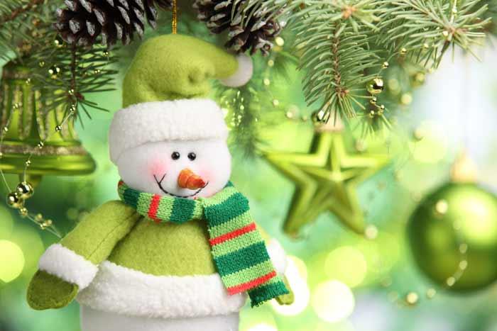 новый год, снеговик, ёлка