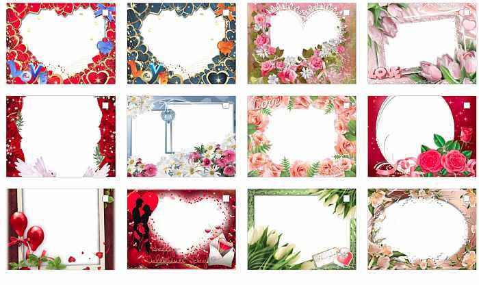 Рамки Валентинки для Ваших фото