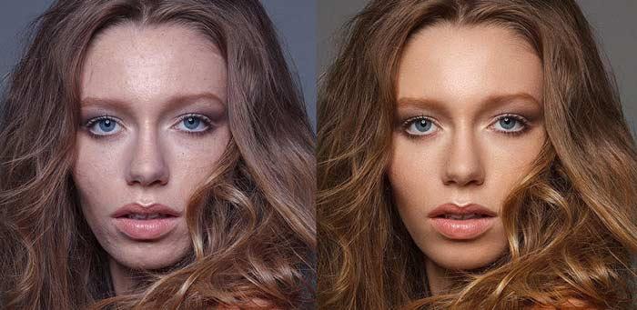 Самый современный способ ретуши фотографий, девушка, портрет