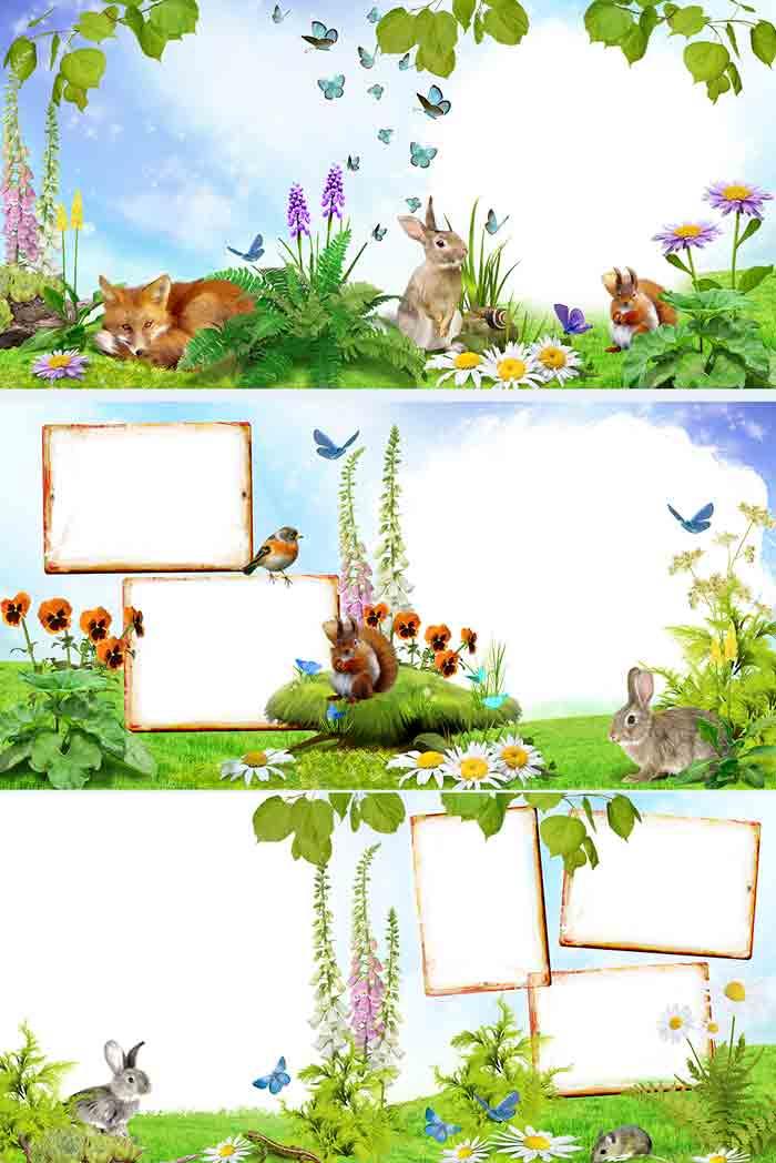 Фотокнига с животными, шаблоны для фотошопа, скачать