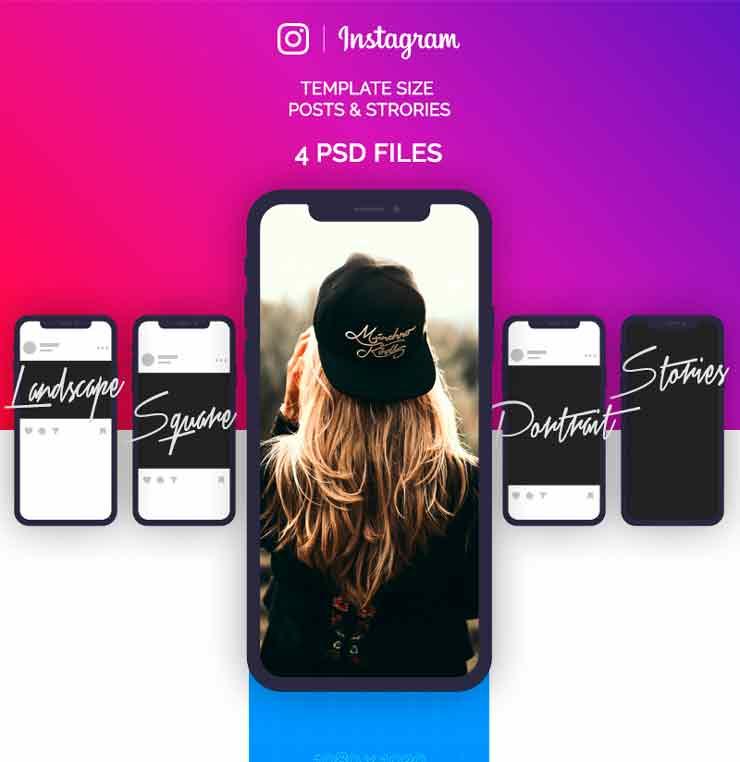 Web-дизайн - Instagram шаблоны скачать