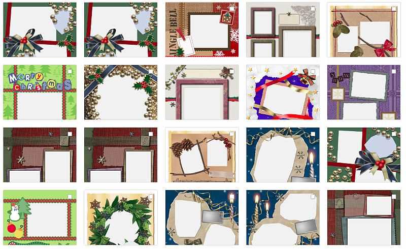 Шаблоны страниц для создания Новогодней фотокниги