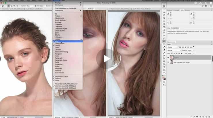 Как в Фотошопе отредактировать тон кожи по образцу